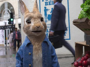 James Cordon again provides the voice of Peter Rabbit in the sequel.