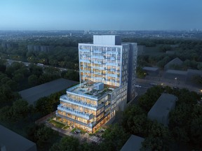 Height restrictions on Kingston Road keep development low, at 8 storeys; East Pointe will rise to 11.