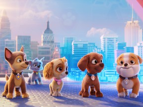 Who's in a good movie? The dogs of Paw Patrol, that's who!