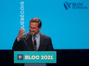 Bloc Québecois leader Yves-François Blanchet in Montreal the day after the 2021 federal election.