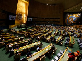 United Nations Secretary General Antonio Guterres speaks at the UN General Assembly on Sept. 22.