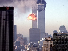 A hijacked commercial plane crashes into the World Trade Center in New York on Sept. 11, 2001.