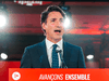 Prime Minister Justin Trudeau delivers his victory speech at the Queen Elizabeth Hotel in Montreal, Quebec, early on September 21, 2021.