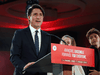 Liberal Party Leader Justin Trudeau delivers his victory speech at election headquarters in Montreal, on September 20, 2021.