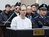 Canadian Robert Schellenberg during his retrial on drug trafficking charges in Dalian, China, January 14, 2019.