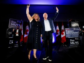 Leader of the Conservative Party of Canada, Erin O'Toole and his wife Rebecca O'Toole