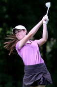 Brooke MacKinnon of Chatham, Ont., tees off on the 18th hole during the second round of the Ontario junior girls' golf championship at Maple City Country Club in Chatham, Ont., on Tuesday, July 10, 2018. Mark Malone/Chatham Daily News/Postmedia Network