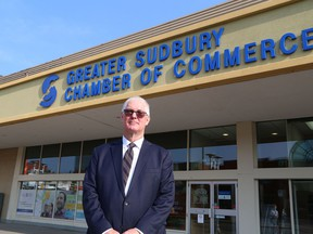 David Boyce, past board chair of the Greater Sudbury Chamber of Commerce, spoke to the media at a press conference at chamber headquarters in Sudbury, Ont. on Friday August 17, 2018. The chamber is calling on Greater Sudbury candidates running for mayor and council to adopt the chamber's 2018 municipal election platform. John Lappa/Sudbury Star/Postmedia Network