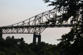 International Bridge as seen from Parks Canada National Historic Canal in Sault Ste. Marie, Ont., on Friday, June 24, 2016. (BRIAN KELLY/THE SAULT STAR/POSTMEDIA NETWORK)