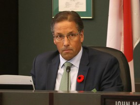 Parkland County Mayor Rod Shaigec during budget deliberations at Parkland County on Nov. 10, 2018. The Mayor was in an accident Sept. 11 and is currently in the hospital in stable condition.