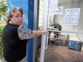 Ousted Caldwell First Nations Chief Mary Duckworth noticed door locks to her office had been changed Tuesday August 14, 2018.
