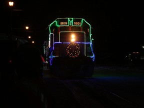 The decorated ONR Holiday train as it rolled into the station at Cochrane holds great memories. Memories like this is what the Cochrane Public Library is looking for.