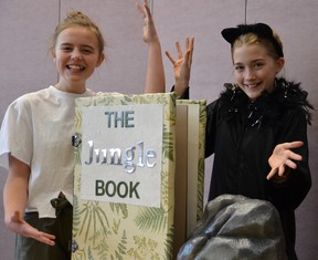 Students from Strathcona Christian Academy's Musical Theatre Program pose in costume as they prepare for a two-night performance of The Jungle Book on March 13 and 14 at the Sherwood Park Alliance Church.