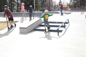 Melfort's skate park is now open, as are playgrounds and some other facilities. File photo.