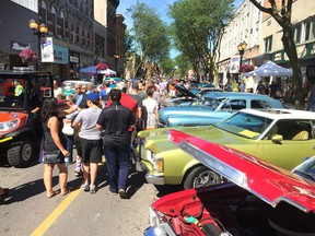 The streets of downtown Chatham were crammed with people during the 2019 RetroFest car show. The event was the biggest ever, attracting over 800 cars that were display. (Peter Epp/Postmedia Network)