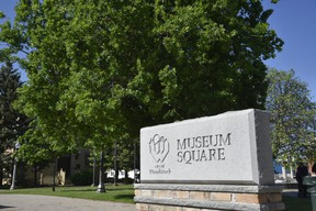 Museum Square, located in downtown Woodstock. (Kathleen Saylors/Woodstock Sentinel-Review)