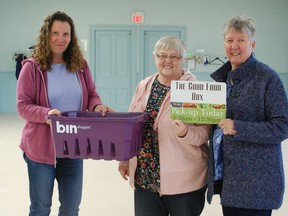 On Monday, October 21, Kim Williams and June Hooks (not pictured), passed the duties of the Good Food Box on to Shirley Bieman and Wendy Cox. For $20 the Good Food Box offers fresh fruits and veggies to the community in hopes to encourage easy healthy eating. You can pre-pay for your box at Century 21 by the second Tuesday of each month; pickup for your box is the following week on Tuesday's at Knox Presbyterian Church. Hannah MacLeod/Kincardine News