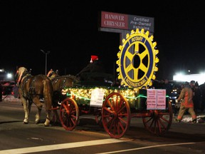 The 2019 float for the Hanover Rotary Club, which organized Hanover's Santa Claus parade. This year's Santa Claus parade has been cancelled due to the ongoing COVID-19 pandemic.