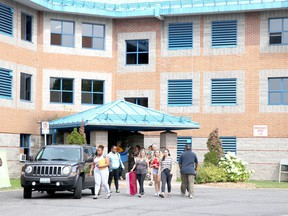 Move-in day at Ray Lawson Hall at Sault College. FILE PHOTO