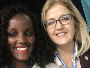 Cathy Orlando of Sudbury and Vanessa Nakate of Uganda attended the 25th Conference of the Parties earlier this month in Spain.