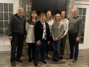 2020 Lucknow & District Chamber of Commerce Executive. L to R:   Rod McDonagh, Vice President,  Dionne Smith, Secretary, Elaine Steer, Treasurer, Shauna Van Osch, Social Media, Mary Ellen Pollard, Director, Marlee Gowling, Bulletin Editor, Keith Raymond, Past President. Missing:  Connie Jefferson, President and Mort Jakobsen, Director. Submittted