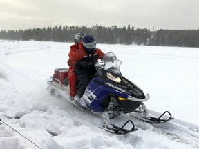 Ontario Provincial Police are encouraging snowmobilers to use caution. FILE PHOTO