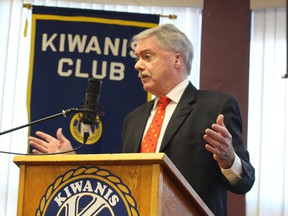 "Paul Morden/Sarnia Observer Sarnia Mayor Mike Bradley give his annual ""state of the city"" address Tuesday to the Sarnia-Lambton Golden K Kiwanis Club during its first meeting of 2020."