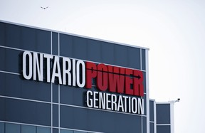 Ontario Power Generation signage is seen at the Darlington Power Complex in Bowmanville, Ont., Friday, May 31, 2019. THE CANADIAN PRESS/Cole Burston