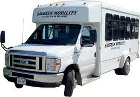A Saugeen Mobility and Regional Transit vehicle.