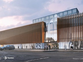 A rendering of the planned Keyano art gallery, sent to media by Keyano College on Tuesday, November 26, 2019.