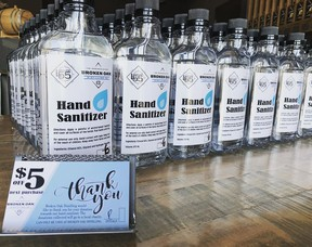 Broken Oak and Latitude 55 distilleries are now producing hand sanitizer to help address the increasing demand in Grande Prairie and the surrounding region amid the COVID-19 pandemic.