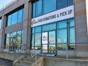 The Brantford food bank on Clarence Street is making changes in how it operates because of the COVID-19 pandemic. Expositor photo