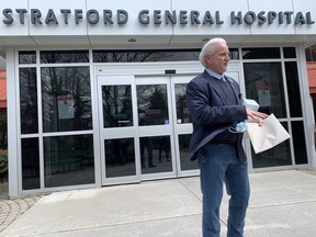 The president and chief executive of the Huron-Perth Healthcare Alliance said about 70 staff members at Stratford General Hospital are being tested for COVID-19 in relation to an outbreak in the medicine unit, but Andrew Williams is confident that safety measures already in place will prevent further spread. (File photo)