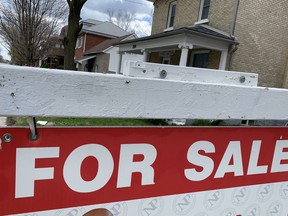 The local housing market continued to feel the effects of COVID-19 last month as residential home sales took another hit. (Cory Smith/The Beacon Herald)