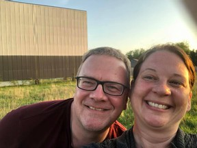 Adam Shaw and Angila Peters, the pair behind The Oxford Drive In. They are hoping to get the theatre back up and running this summer even as many businesses and movie theatres have been shuttered during the pandemic. (The Oxford Drive In)
