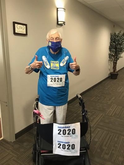 Joan Wordingham, a 101-year-old resident of Chartwell Oxford Gardens, is walking the hallways of the retirement home in the Dash 4 Dads Walk/Run for Prostate Cancer. She has raised more than $2,000 for prostate cancer research.  Submitted photo