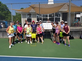 There will be no groups photo ops - like this one last season - when the Southampton Tennis Club re-opens June 27 for singles and doubles play.