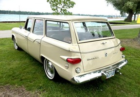 Studebaker's four-door Lark station wagon for 1960 was a breath of fresh air in an era when most American cars dripped chrome and featured some outrageous fins. Bob Simmons of Corunna owns this Lark. It was on display at the Sombra Optimist Club's car show in Port Lambton a few years ago. Peter Epp photo