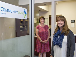 Community Living Brant executive director Debbie Cavers (left) and director of community development and services Rishia Burke are excited about an Ontario Trillium Foundation grant that will help launch a new project called Belonging Brant.