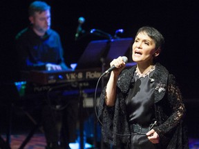 Susan Aglukark performs at FirstOntario Performing Arts Centre in St. Catharines on Thursday as part of the Celebration of Nations. Aglukark is an award-winning musician who tells the story of the Inuit throughout her show called Arctic Crossing. The film and musical show was opened by Les Stroud, also known as Survivorman, who brings a message of connoting to nature and honouring our responsibilities to nature. Julie Jocsak/ St. Catharines Standard/ Postmedia Network
