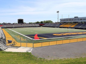 Sports fields like Richardson Stadium and Nixon Field at Queen's University on Monday June 8, 2020, will be quiet this fall as sports scheduled to start in September have been cancelled by Ontario University Athletics. The Ontario Colleges Athletic Association of which St. Lawrence College is a member, has followed suit.,