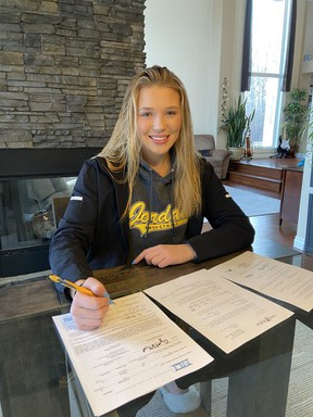 Sherwood Park's Stephanie Kucy has signed on to play NCAA Division II womenÕs basketball for Lees McRae College in North Carolina. Photo Supplied