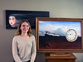 Page Cowell received this year's Woodstock Art Gallery scholarship. She will study art at the Yukon School of Visual Arts this fall.  SUBMITTED PHOTO