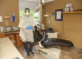 Greg Veitch, president of the London and District Dental Society, says dental offices may need some time to reopen given all the new regulations they have to follow to lower the risk of COVID-19 transmission. (Derek Ruttan/The London Free Press)
