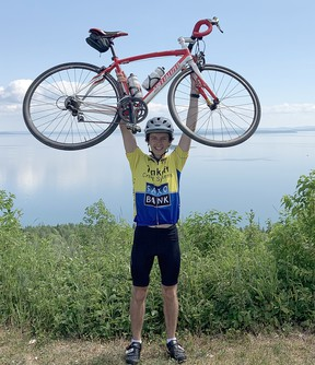Cameron Duff needs cardio to play badminton. Rediscovering his passion for cycling was the perfect solution for the Cambrian College business student.