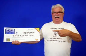Robert Bechard, 63, of Pain Court, Ont., recently won $100,000 on the Encore, which was included with a Lotto 6/49 ticket he purchased for the March 13, 2020, draw.