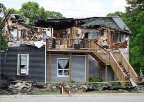 A house fire occurred on Victoria Street in Walkerton on Sunday afternoon. DEREK LESTER