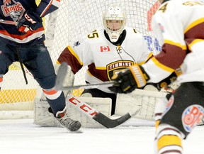 The Timmins Rock's hopes of capturing an NOJHL championship received a big boost when it was announced goalie Tyler Masternak would be returning for a fourth season. The Oshawa native established single-season records for goals against average (1.66) and shutouts (eight) in 2019-20 and also increased his NOJHL career record for shutouts to 16. THOMAS PERRY/THE DAILY PRESS/POSTMEDIA NETWORK
