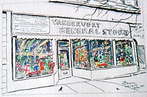 """Shirley Gibson-Langille's new coffee-table book, """"Treasured Memories: Brushed with Love,"""" offers artwork of, and the stories behind, familiar Kingston storefronts."""