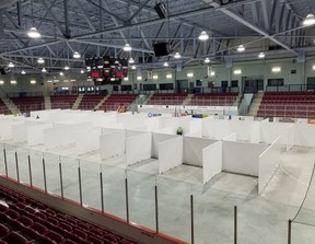 A pop-up isolation centre Bruce Power has provided to the Municipality of Leamington.